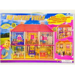 Кукольный домик My lovely villa 6983 с мебелью, 2 этажа и 6 комнат