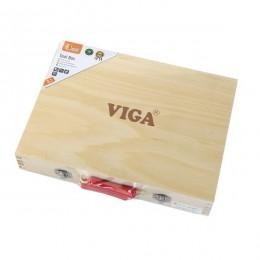 Деревянный игровой набор Viga Toys Чемоданчик с инструментами, 10 шт. (50387)
