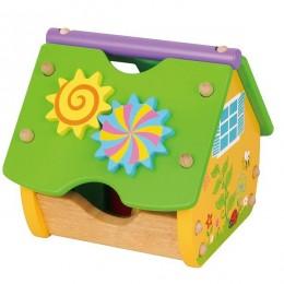 Деревянный сортер Viga Toys Веселый домик (59485)