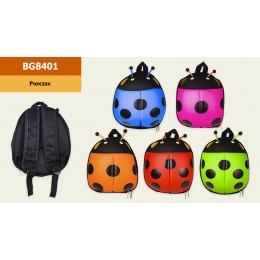 Рюкзак детский BG8401 (50шт) божья коровка, 5 цветов, р-р рюкзака - 22*16*25см, в пакете