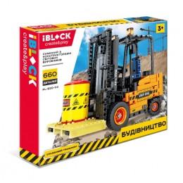 Конструктор IBLOCK PL-920-114 (12шт|2) СТРОЙКА, 660дет.инструкция на укр яз, ,в собран.кор 48,5*38,5