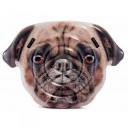 Интекс Надувной плот круг матрац Собака Мопс 58785