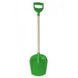 Лопатка большая с деревянной ручкой (зеленая) 2902