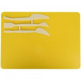 37044 [K17-1140-08] Набір для ліплення(дощ.180х250 мм + 3 стеки),жовт.