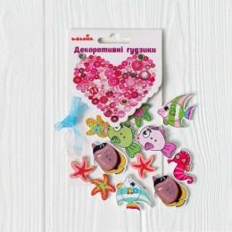 """Набор пуговиц """"Морские обитатели"""" 97093"""