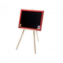 [М326040/3] Дошка для малювання на тринозі двостороння магнітна з червоною рамкою