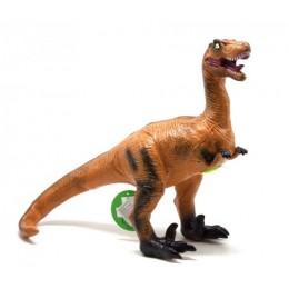 """Динозавр резиновый """"Велоцираптор"""", большой, со звуком JX102-7"""