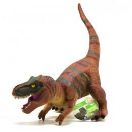 """Динозавр резиновый """"Тираннозавр"""", со звуком (коричневый) JX106-6B"""