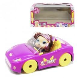 Машинка розовая с питомцем