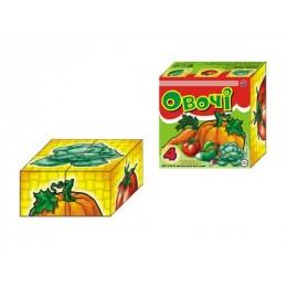 """Іграшка кубики """"Овочі ТехноК"""""""