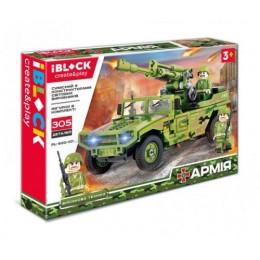ЧП196045 [PL-920-101] Конструктор IBLOCK PL-920-101 (30шт/2) АРМИЯ, 305дет.,в собран.кор 38*26*6 см