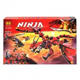 """Конструктор """"Ninja: дракон и вертолёт"""", 918 дет 10938"""