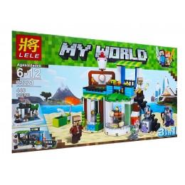 Конструктор Lele 33221 Minecraft Майнкрафт Кондитерская 3 в 1, 446 дет