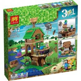 Конструктор Майнкрафт Minecraft 3 в 1 Дом корабль Зомби 279 деталей LELE 33220
