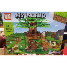 Конструктор PRCK MY WORLD Штаб на дереве 63038 (Аналог LEGO Minecraft ) 554 дет
