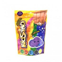 """Кинетический песок """"KidSand"""" фиолетовый, в пакете, 400 г KS-03-03"""