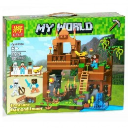 "Конструктор  33126 Minecraft ""Башня с алмазами"" 572 детали. Аналог"