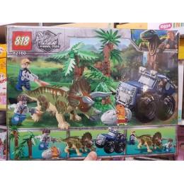Конструктор 82160 Аналог Jurassic World Трицератопс 368 деталей