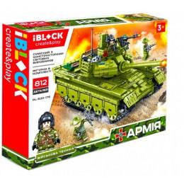 Конструктор Iblock Танк Армия 812 дет PL-920-176