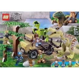 Конструктор 82162 Атака Тираннозавра и Раптора. Мир Юрского периода (аналог Jurassic World)