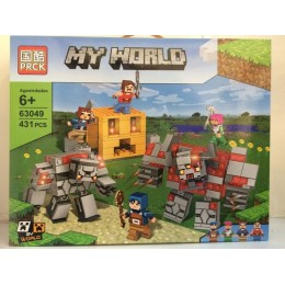 Конструктор PRCK Майнкрафт Редстоун Рейд, 431д. реплика Lego Minecraft