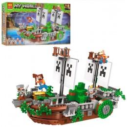 """Конструктор Майнкрафт Minecraft Bela 11139 """"Битва на корабле"""", 630 дет."""