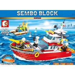 Конструктор Sembo Fire Frontline 603036 Пожарный катер 474 дет