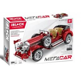Конструктор Iblock Ретро машинка Mega Car 617дет PL-920-152
