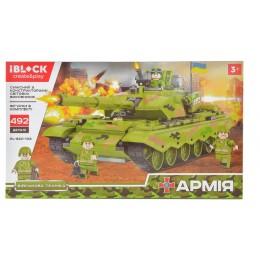 Конструктор Танк Iblock Армия PL-920-103 492 дет