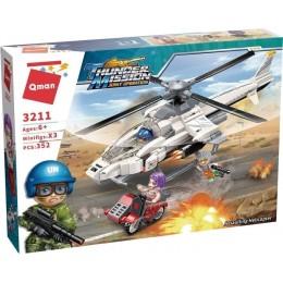 """Конструктор Qman 3211 """"Штурмовой вертолет"""" 352 деталей"""