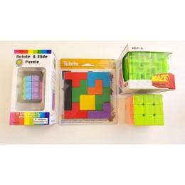 Набор для Логики 1: кубик Рубика, Головоломка, Тетрис, Лабиринт 4 в 1