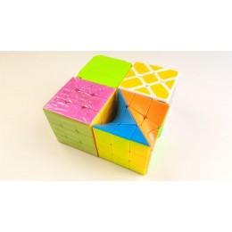 Набор Кубик Рубика 4в1: Фишер Куб, Иви Куб, Твист, Кубик Рубика головоломка