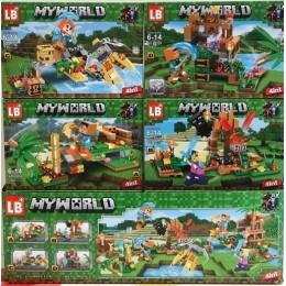 Конструктор Майнкрафт Minecraft 4 в 1 LB558 My World