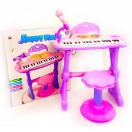 Орган на ножках со стульчиком пианино детское синтезатор S6001