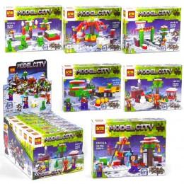 Конструктор Minecraft Майнкрафт Model City 6 в 1 20031 A-F