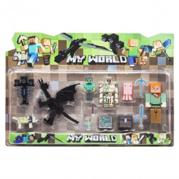 """Набор фигурок """"Minecraft. Дракон"""", вид 3 Майнкрафт (JL18332-2)"""