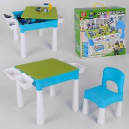 Игровой столик со стульчиком + КОНСТРУКТОР LX.A 371 (4/2) 505 деталей, в коробке