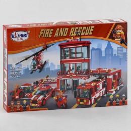 """Конструктор 1236 (12) """"Пожарная станция"""" 969 деталей, в коробке"""